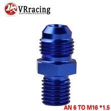 Vr-macho azul 6an 6 um alargamento a m16x1.5 (mm) métrica em linha reta que cabe um porto 6 a m16 * 1.5. Adaptador VR-SL816-06-163-011