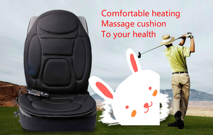 Car seat cushion electric heating massage cushion On-board winter essential health massage chair cushion body massage products health care back body massage mat home and car massage chair electric infrared massage chair for sale