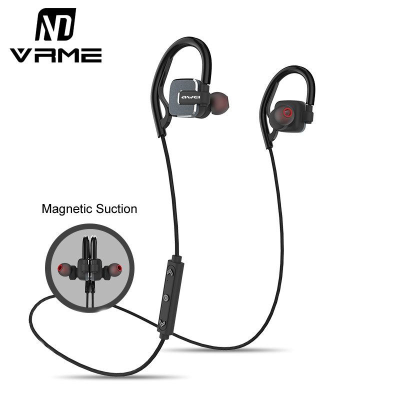 Vrme Bluetooth Headphones with Microphone Magnetic Metal Sport Headphones Wireless Headset hifi Bass Stereo Earphones for Phones bluetooth headset wireless sport headphones stereo music with magnetic switch bass earpieces for zte blade x3 x5 x7 kis