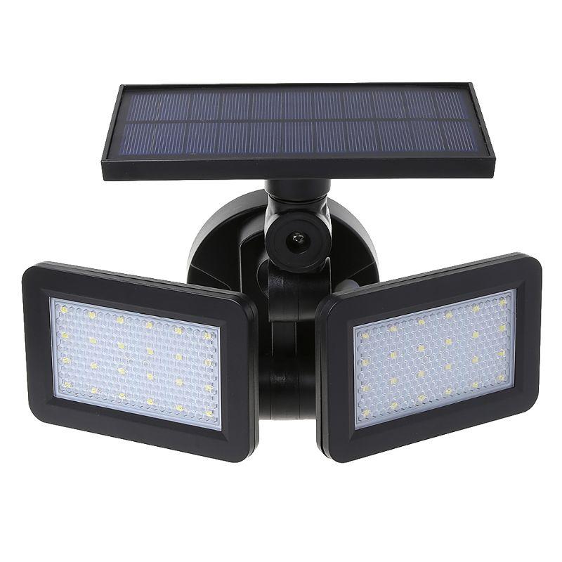 Dual Head Solar Wall Light Body Sensor Spotlight Waterproof Outdoor Garden LampDual Head Solar Wall Light Body Sensor Spotlight Waterproof Outdoor Garden Lamp
