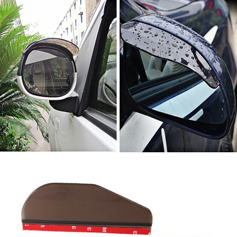 Well-Educated 1pc Car Rear View Mirror Weatherstrip Flexible Rear View Mirror Anti Rain Guard Shade Auto Rain Eyebrow Bhu2 Car Styling Moderate Cost Exterior Accessories
