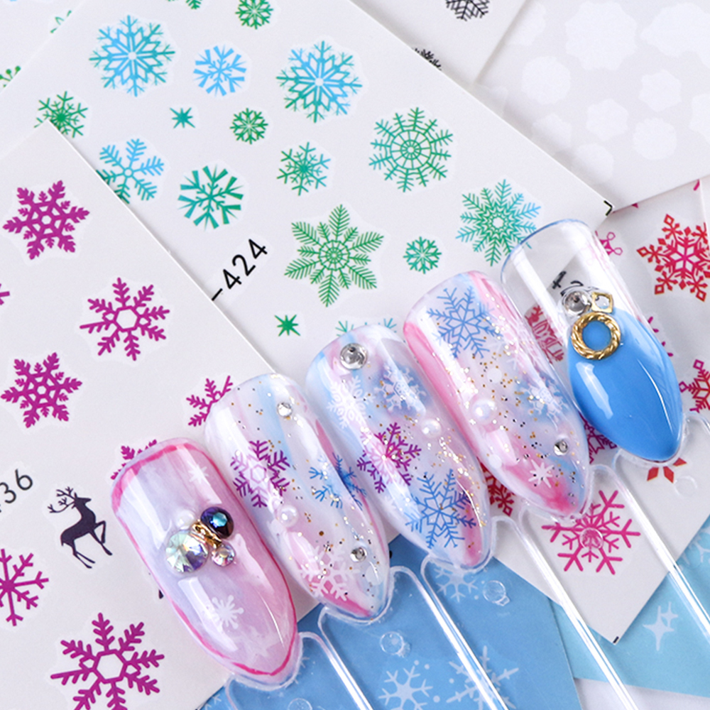 Nail Art Sticker New Year , Tattoo Christmas Water Decal  2
