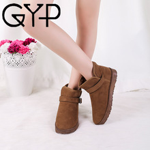 GYP 2018 Snow Winter Shoes Women's Plush Warm Snow Shoes Ladies Winter Ankle Boots Female Outdoor Lightweight Snow Boots YY-21