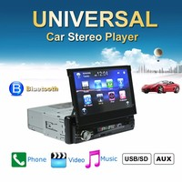7 inch GPS Car MP5 Player Retractable Touch Screen Bluetooth Auto Radio Players Stereo Audio FM Music USB Steering Wheel Control