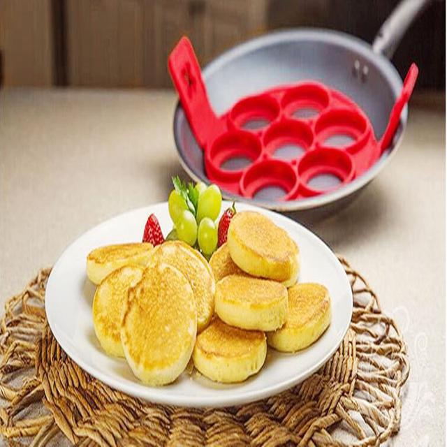 Nonstick Pancake Maker Silicone Egg Ring Maker Kitchen Perfect Pancakes Easy Flip Breakfast Omelette Tools Pancake Mold