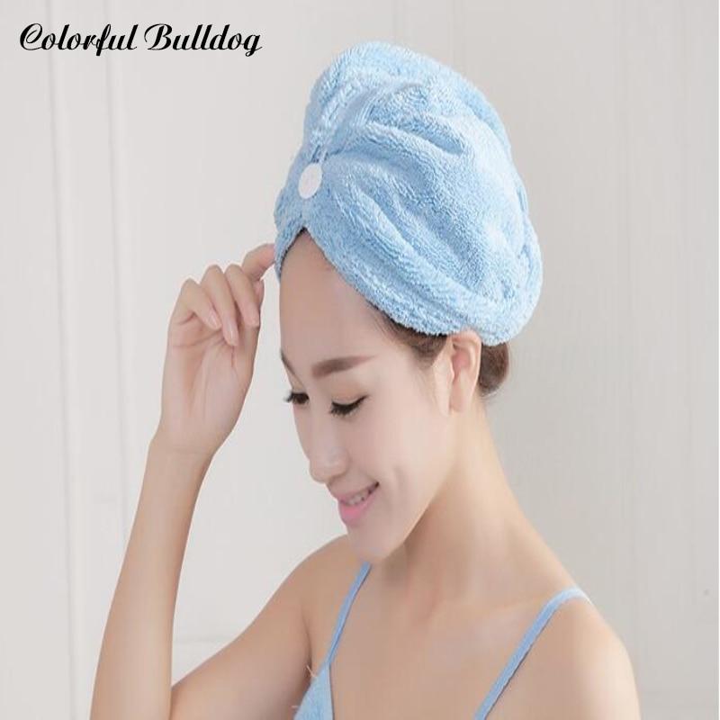 Sombrero de Microfibra de moda Sombrero de Ducha de Colorido Toalla - Textiles para el hogar
