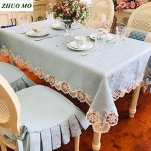 European rectangular tablecloth cover obrus luxury lace table wedding decoration birthday party decorations kitchen