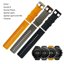 24MM Silicone Watch Strap For Suunto9 Spartan Sport HR Watch Band Suunto 9 Baro Quick Release Strap Traverse Rubber Watchband