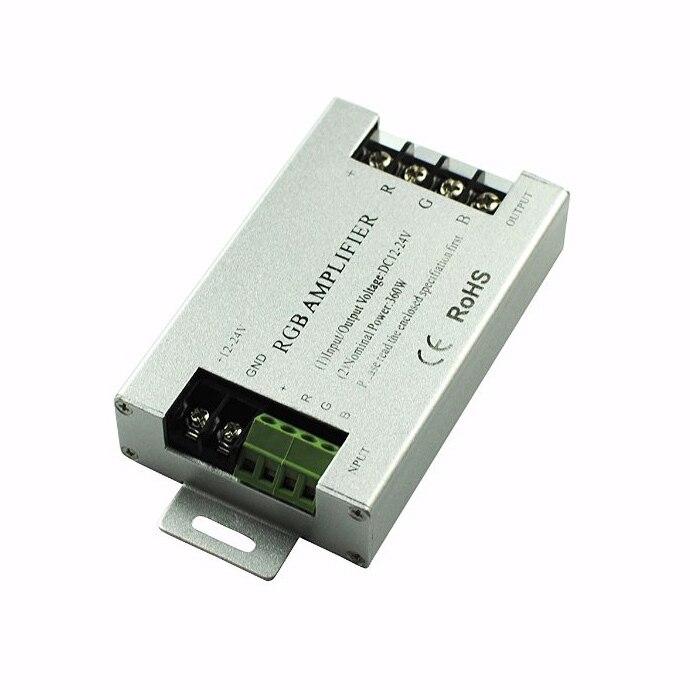20pcs/lot DC12-24V 10A LED RGB Amplifier controller for 3528&5050 SMD Strip