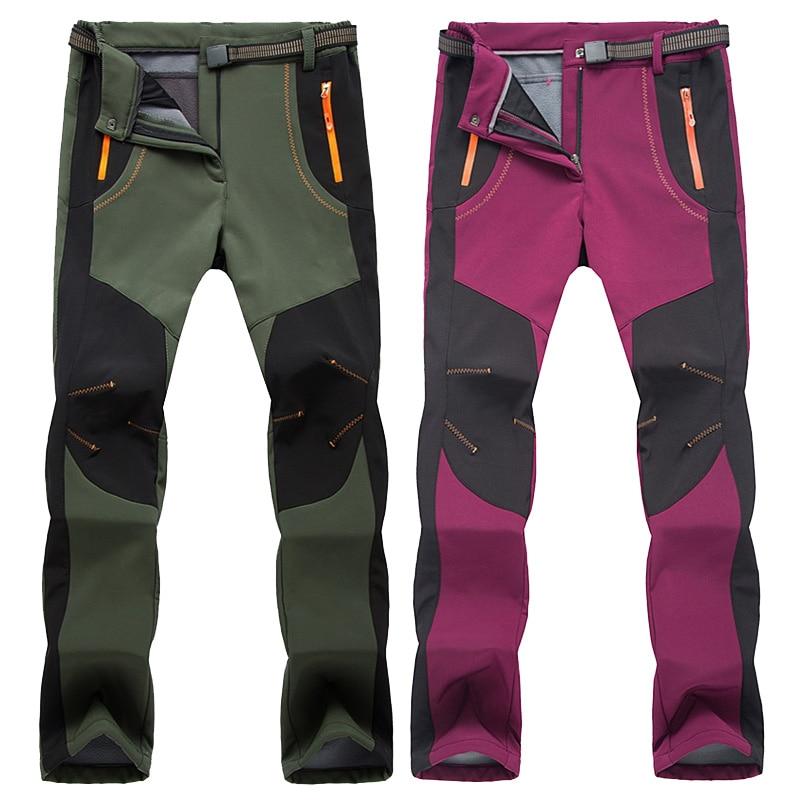 Image 5 - LOMAIYI Cargo Pants Women Winter Warm Pants Womens Trousers  Large Size Sweatpants Woman Fleece Lining Waterproof Pants AW079Pants