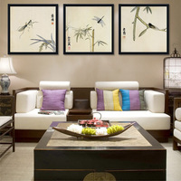 still life paintings bamboo mantis dragonfly insects scenery tradtional Chinese style masterpiece reproduction mural prints