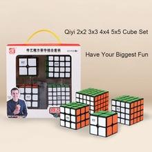 4 stks/set QiYi Mofangge Magische Kubus Set Vreemde-vorm 2x2/3x3/4x4/5x5 Megaminx Professionele Cubes Grappig Speelgoed voor Kinderen