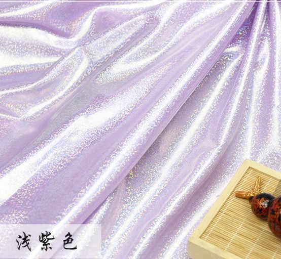 Флуоресцентная ткань лазерная эластичная трикотажная цветная блестящая ткань сценическая Свадебная декоративная ткань для шитья латиноамериканских танцев tissu 150 см * 50 см
