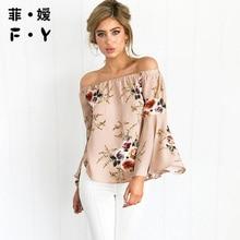 2017 T Shirt Women Full Fashion New Style Sexy Slash Neck Print T Shirt Full Casual Kawaii Tshirt Women