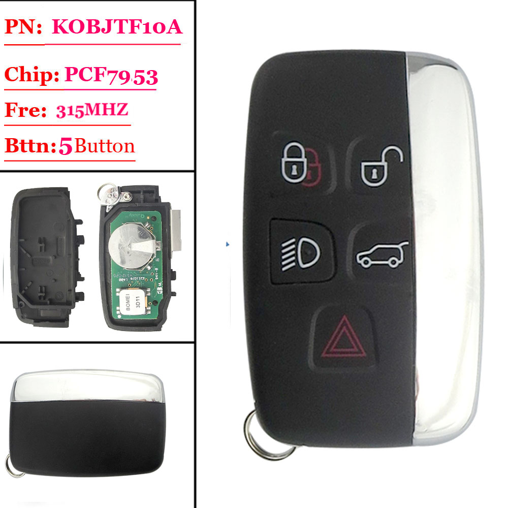 Free shipping(1 piece) Smart Key 5 Button 315Mhz ID47 Chip Keyless Remote For Land Rover Range Rover Sport Evogue LR4 Luxury цена
