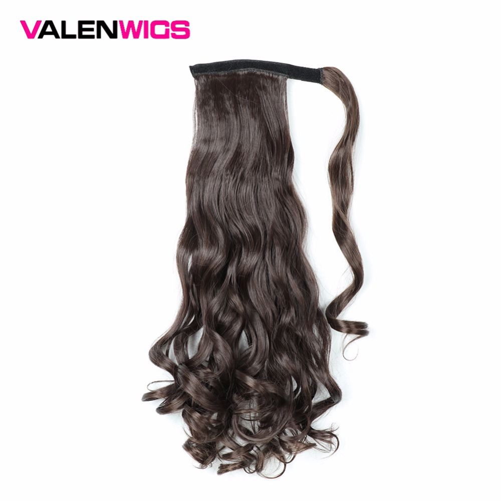 Valen Wigs Clip In Ponytail Hairpieces False Hair Ponytail Hairpiece With Hairpins Synthetic Hair Pony Tail Hair Extensions