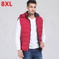 Plus Size Male Vest 8xl Male Down Waistcoat Plus Size Stand Collar Men S Clothing