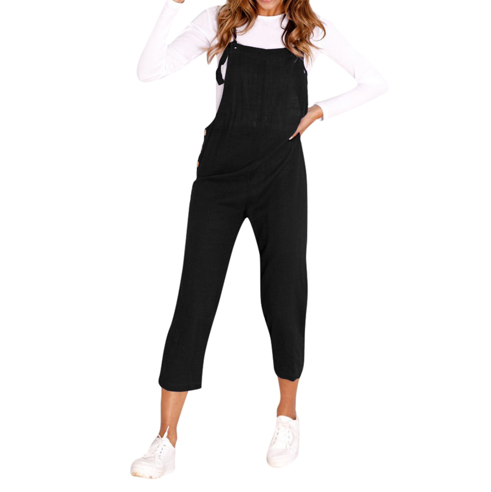 Women Spaghetti Strap Wide Legs soft and comfortable Bodycon Jumpsuit Trousers Clubwear Rompers L50/0116