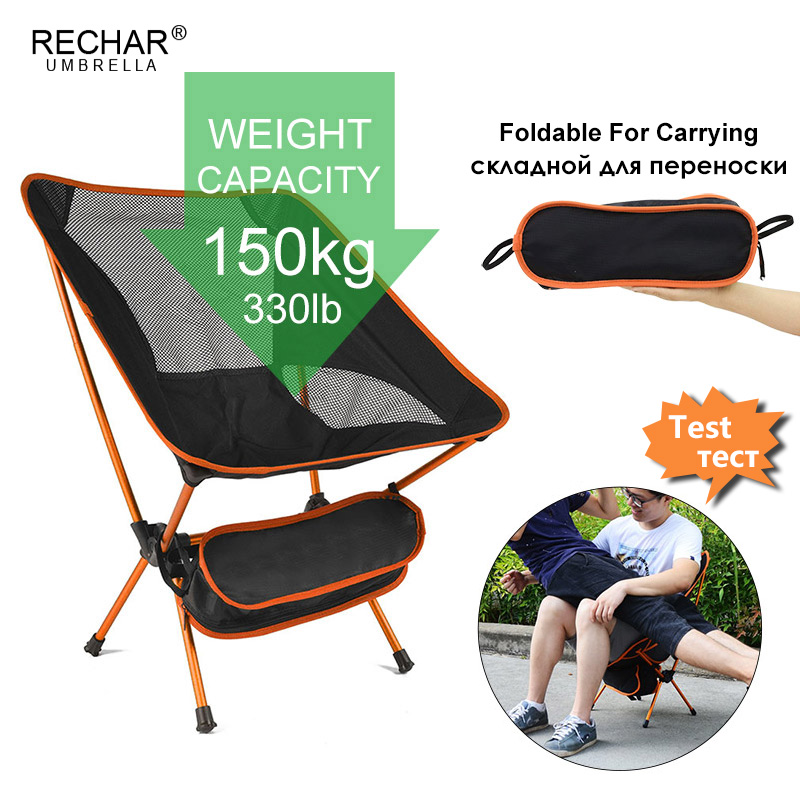 Outdoor Fishing Camping Chair Ultralight Folding Furniture For Leisure Picnic Protable Beach Chair Aluminum Super Bearing Seat