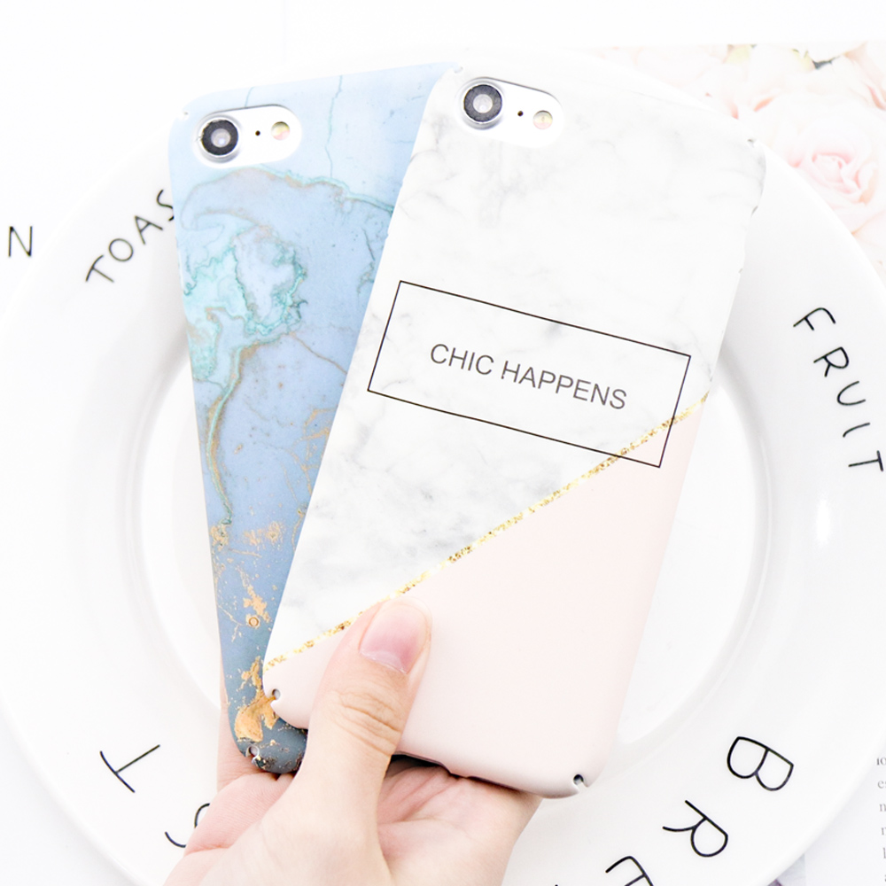 Original Hard PC pattern Cases For iPhone 6 6s 7 8 plus Case marble patterns Style 360 Full Body Protection phone Back case P30