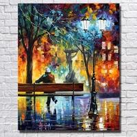 Hand Painted The Man Night Light Rest Oil Painting Beautiful Oil Paintings On Canvas For