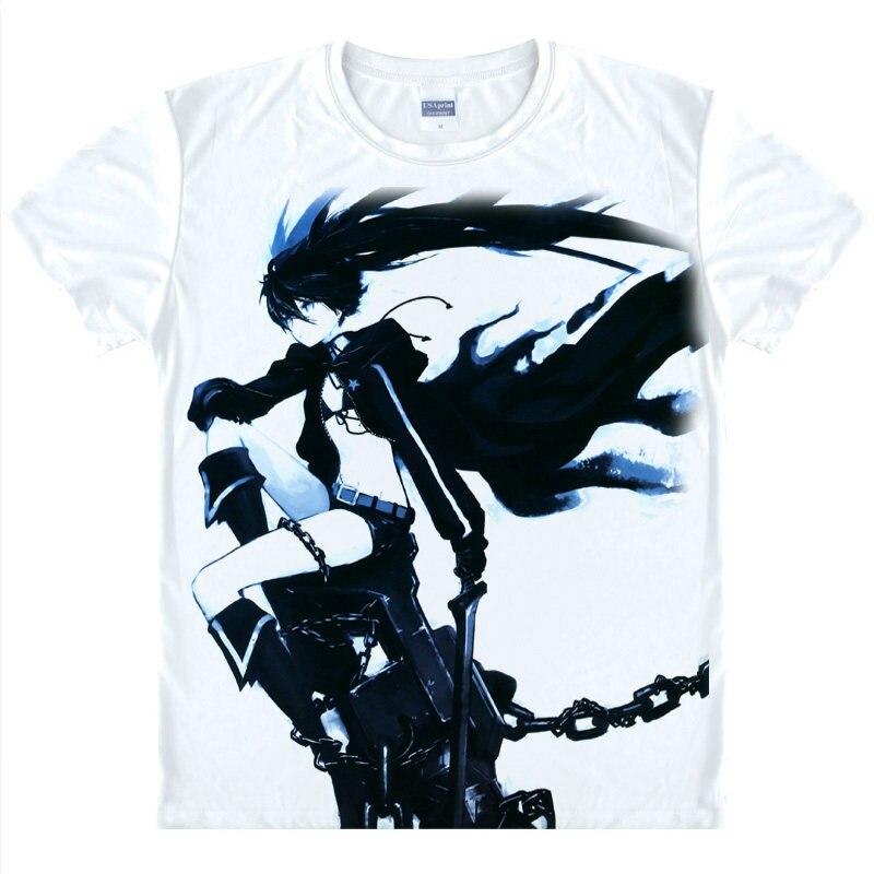 <font><b>Black</b></font> <font><b>Rock</b></font> <font><b>Shooter</b></font> T-Shirt Chariot Shirt Man t-shirt Products cute style t-shirts Anime <font><b>Action</b></font> <font><b>Figures</b></font> <font><b>cartoon</b></font> cosplay costume a