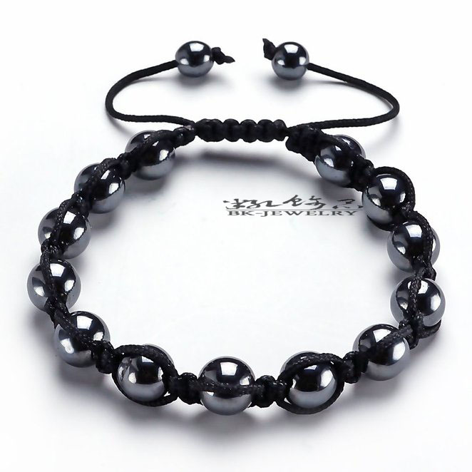 10pcs Handmade Hematite Bracelets Shamballa Bracelet Shamballa Monolayer-Hematite Bracelet For Man Women