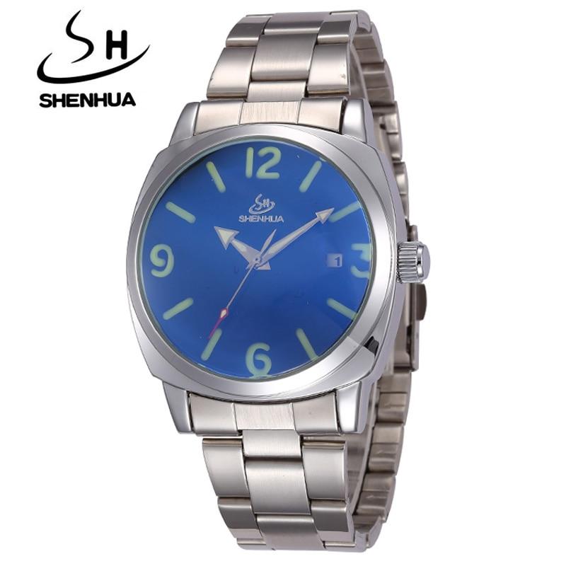 Brand Tags SHENHUA Horloges Heren Volledig Staal Automatische - Herenhorloges