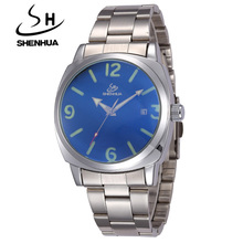 Brand Tags SHENHUA Watches Men Full Steel Automatic Machinery Watches Male Waterproof Date Clock Mechanical Wristwatches For Men