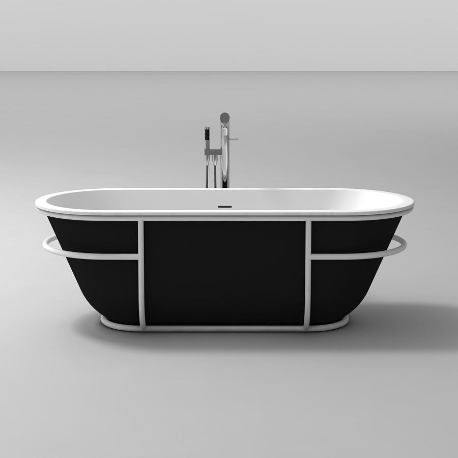 Hell 1770mm Feste Oberfläche Harz Freistehende Badewanne Ovale Form Mit Edelstahl Bracks 65150 Heimwerker