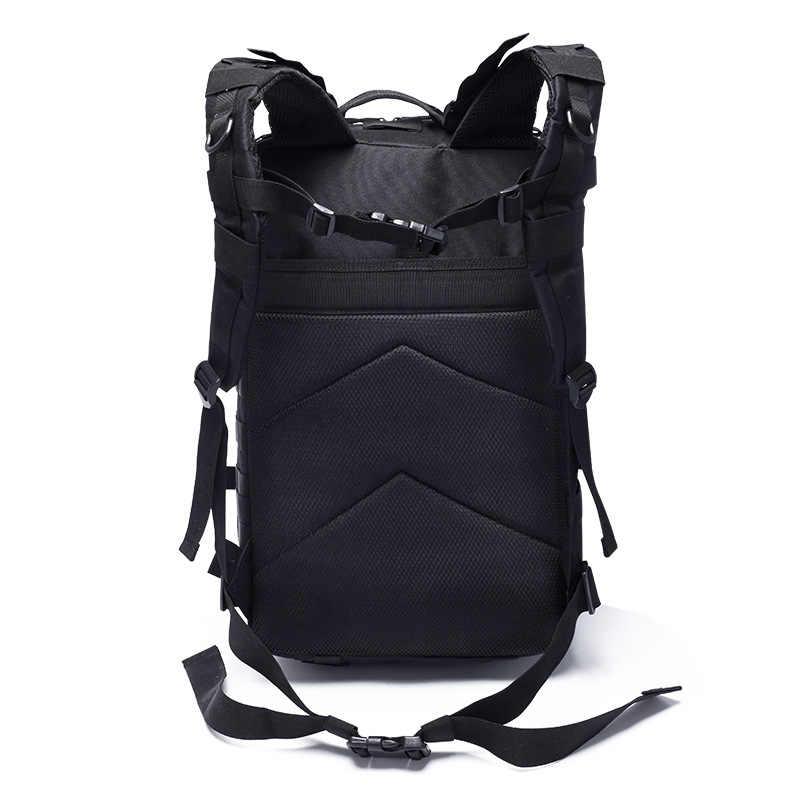 40L Pria Rucksack Taktis 3 P Ransel Tas Ransel Tas Olahraga Perjalanan Berkemah Mendaki Pendakian Bagpack Tas Militer