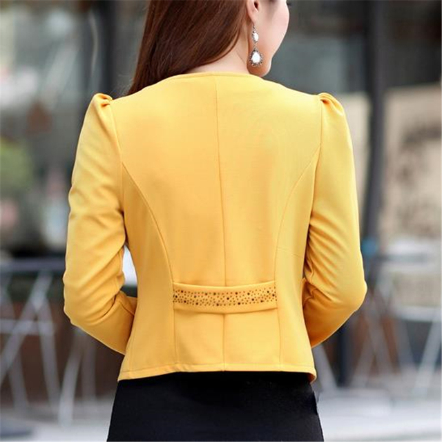 Plus Size 5XL Womens Blazer Work Office Women Blazer Long Sleeve Coat Fashion Casual Pink Black Suit Basic Fall Jacket 3