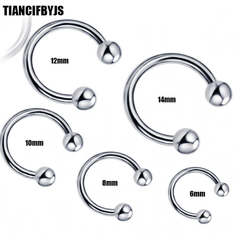Tiancifbyjs Piercing Nose Stainless Horseshoe Ring Mix 6 8 10 12