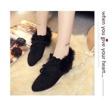 Women flats fashion winter warm butterfly --knot shoes tenis masculino adulto zapatos de mujer feminino women