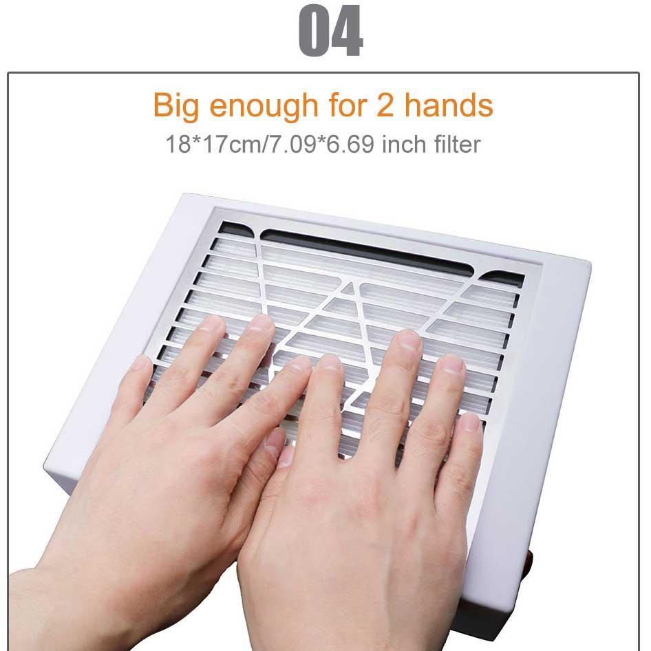 Kesinails 40 Вт новый мощный пылесборник для ногтей Вентилятор для ногтей салон всасывания пылесборник машина пылесос FanB