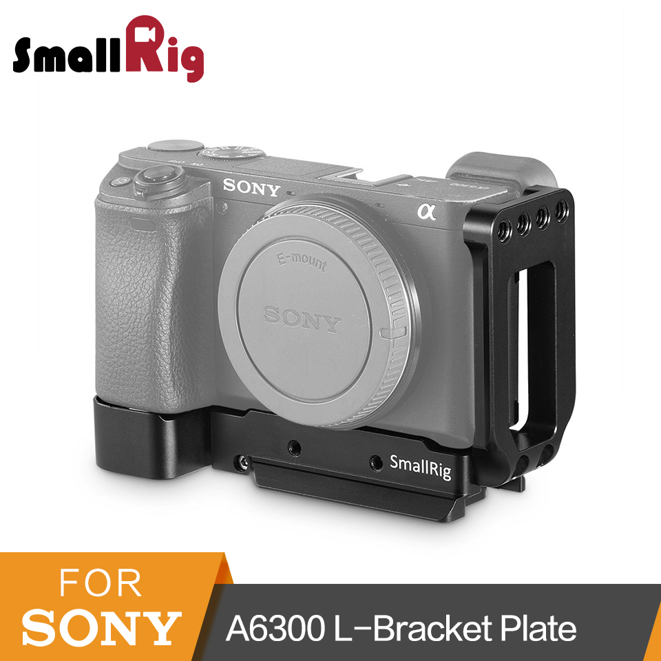 лучшая цена SmallRig A6300 L-Bracket for Sony A6300 Camera L Plate Quick Release Mounting Plate Arca-type Side Plate And Base Plate Kit-2189