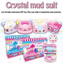 Fluffy Foam Slime Clay Crystal Mud Set Soft Cotton Charms Slime Fruit Kit DIY Color Mud Children Educational Toys(China)