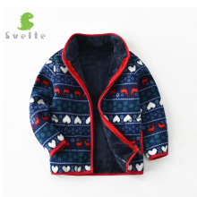 SVETLE for 2-9 Y Fashion Barn Gutter Fôr Fur Tykk Fleece Varm Høst Vinter Jakcet Retro Frakk Yttertøy Barneklær