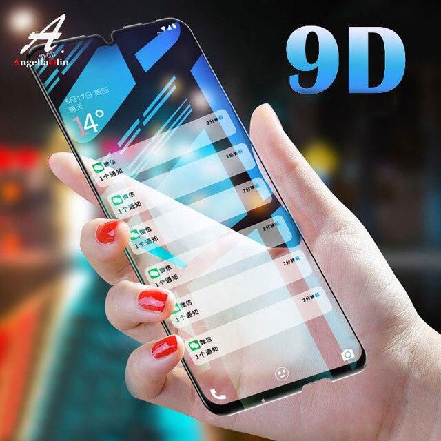 Protector de pantalla 9D de vidrio templado para Huawei P30 Pro P Smart 2019 Y7 Pro 2019 funda protectora completa