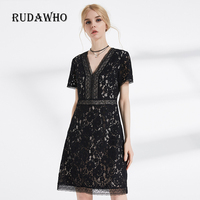 Vfemage Womens Dresses Elegant Sexy Lace See Through Tunic Casual Club Bridesmaid Mother Of Bride Skater