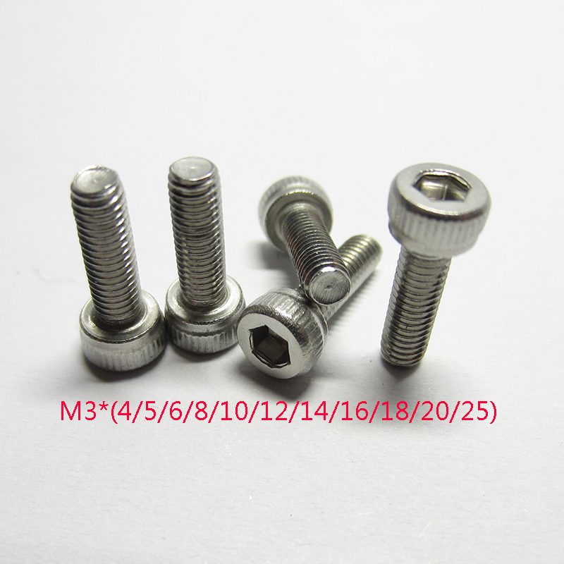 280Pcs Stainless Steel M3 Screws Nuts Hex Socket Button Head Screws Bolts Assortment Kit 5//6//8//10//12//14//16//18//20mm Length Nylon Lock Nuts with Storage Box