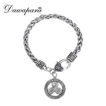39d8868ba238 Dawapara Triskel Triskelion Runa de Viking pulseras espirales colgante de  joyería para hombres brazaletes Vintage Trending productos 2018