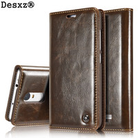 Desxz Phone Case For Redmi Note3 Retro Leather Wallet Card Slot Stand Flip Phone Case For
