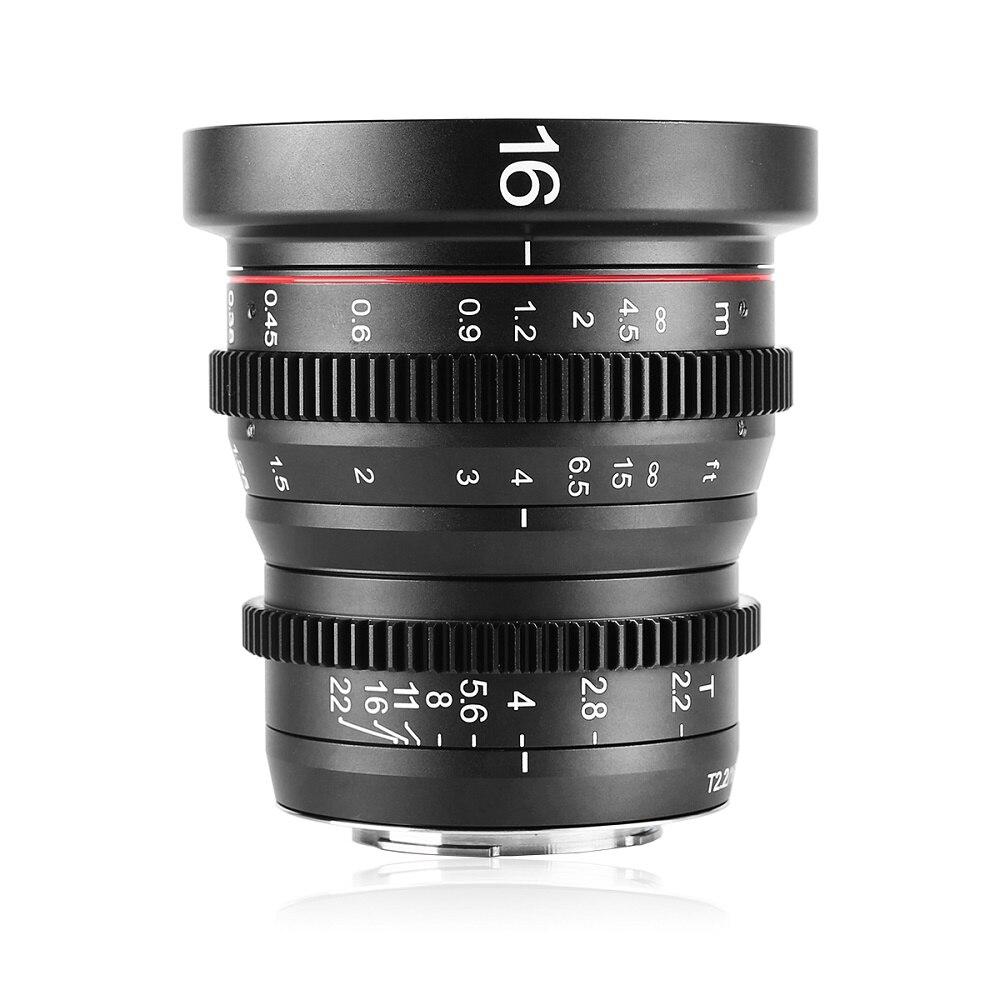 Meike 16mm T2.2 Foco Manual Lente Cine Asférica Retrato para o Monte Olimpo Panasonic Lumix MFT, m4/3 G9 GH1 GH2 GH3 G6 E-P5