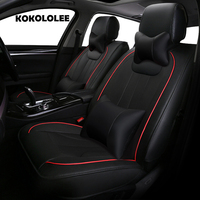 KOKOLOLEE Pu Leather Car Seat Covers For Jaguar All Models XF XE XJ F PACE F