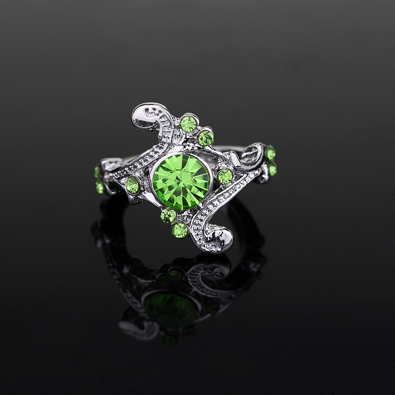 Fashion Women accessories Beautiful Lady Finger Ring Rhinestones Flower Ring for Female Wedding Engagement Bride Ring