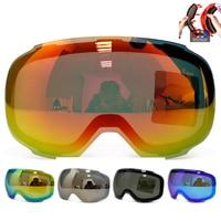 Original Magnetic Lens For Ski Goggles GOG 2181 Anti Fog UV400 Spherical Ski Glasses Snow Snowboard