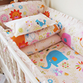 Cartoon Animal Bedding Set Baby,Detachable Cot Quilt Pillow Bumpers Fitted Sheet,Kids Baby Bed Linens for Girl Boy,Cama Infantil
