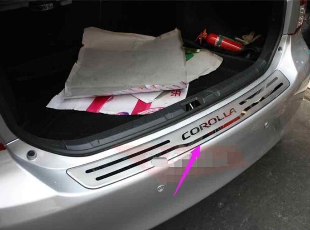 Toyota Corolla 2013-2014 için yüksek kalite paslanmaz çelik koruma özel koruma plakası dekorasyon makale sonrası