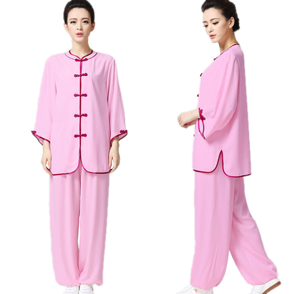 Chinese Spring Tai Chi Suits Men Cotton Rayon Uniform Martial Art Sets Women Kung Fu Clothes